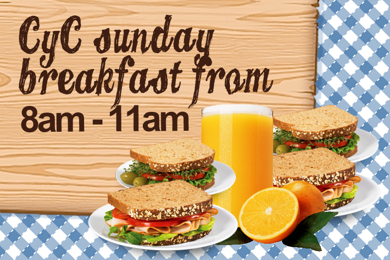 CYC Sunday Breakfast from 8am - 11am